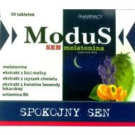 Modus Sen melatonina 30 tabl.Pharmacy  - 5907650226789.jpg